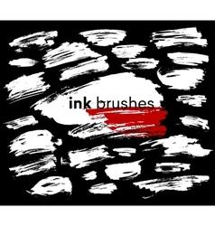 Detail ink brush paint stroke vector image