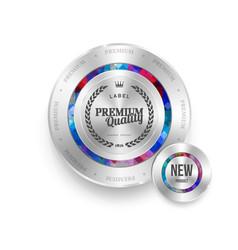 mosaic metal label shopping vector image vector image