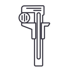 rulerwrenches line icon sign vector image