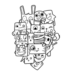 Funny doodle vector image vector image