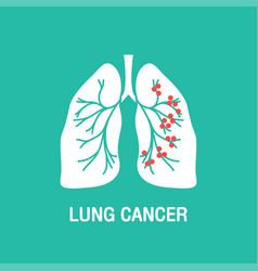 lung cancer logo icon design vector image vector image