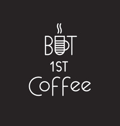 text logo lettering at the coffee shop vector image