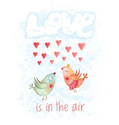 valentines day hand drawn cartoon card vector image