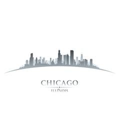 Chicago Illinois city skyline silhouette vector image