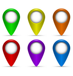 colored map pointers vector image