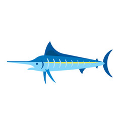 flat style of marlin vector image vector image