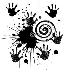 Ink hands grunge splat vector image vector image