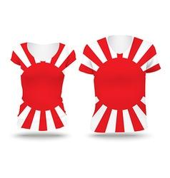 Japanese War flag shirt design vector image