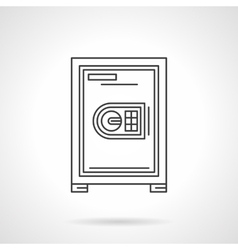 Safe for office flat line icon vector image
