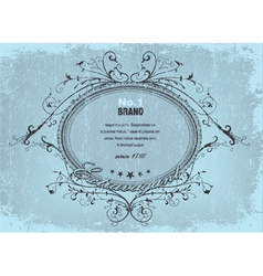 vintage label with grunge vector image vector image