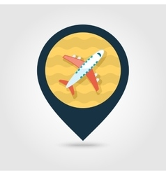 Aircraft pin map icon Travel Summer Vacation vector image