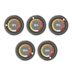 black round speedometer with colorful indicator of vector image vector image