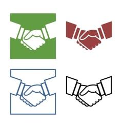 Business handshake set vector
