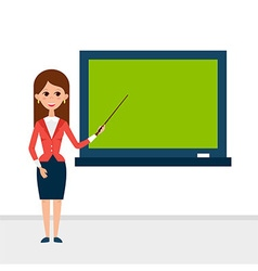 Business Lecture with Pointer and Presentation vector image