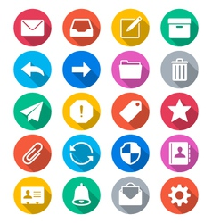 Email flat color icons vector image
