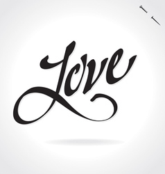 LOVE hand lettering vector image vector image