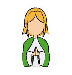 saint virgin mary holy religious image cartoon vector image