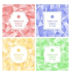Set of four geometric seamless pattern from vector image