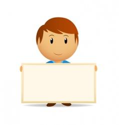 vector cartoon men with billboard vector image vector image