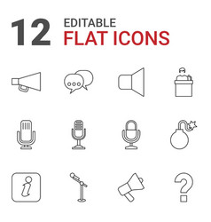 12 speech icons vector image