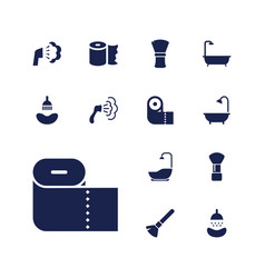 13 hygienic icons vector