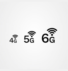 4g 5g 6g internet icon vector