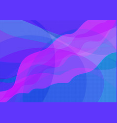 abstract blue and pink wavy background vector image