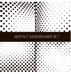 Abstract dotted background set vector