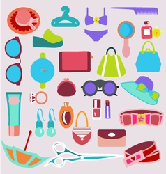 Accessories vintage icons vector