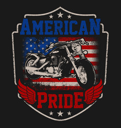 American biker pride vector