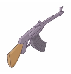 Automatic machine AK 47 icon cartoon style vector image