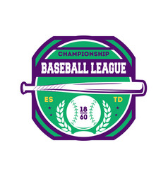 baseball championship vintage isolated label vector image