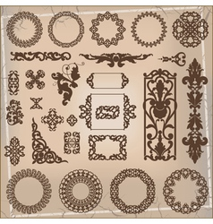 beautiful ornamental pattern vector image