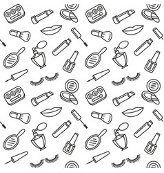 beauty cosmetics and makeup pattern vector image