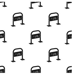 Bicycle parking icon in black style isolated on vector