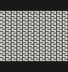 black and white square geometric pattern design vector image