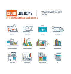 Business accessories and essentials vector