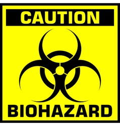 caution biohazard sign vector image