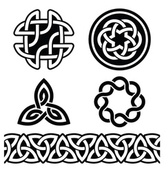 Celtic Irish patterns and knots vector