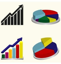 Chart or graph sign vector image