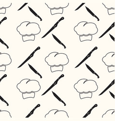 chef cartoon seamless pattern background vector image