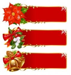 Christmas banner set vector