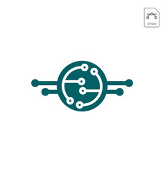 circuit connecting logo icon abstract design vector image