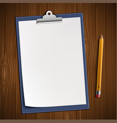 clipboard with blank sheet vector image