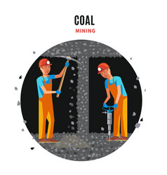 coal extraction flat template vector image