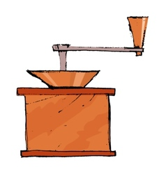 coffee grinder vector image vector image