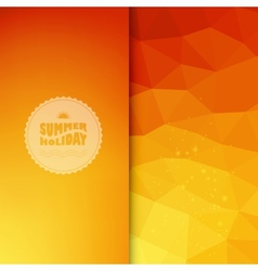 colored background with summer text vector image