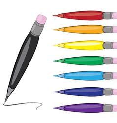 Colorful pens set vector