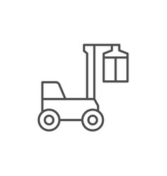 container loader line outline icon vector image