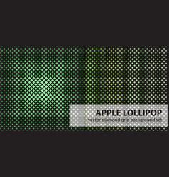 Diamond pattern set apple lollipop seamless vector